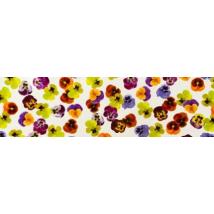 Лента бордюрная для тортов «Анютины глазки» — 50 мм, 40 мкм — 10 м.