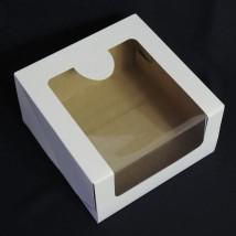 Коробка с окном для торта 18x18x10 см