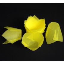 Капсулы бумажные «Тюльпаны» для выпечки кексов, жёлтые — 50x80 — 50 шт.