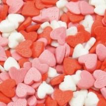 Посыпка сахарная «Сердца красно-бело-розовые» — 100 гр.