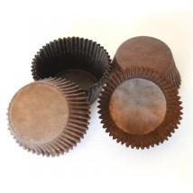 Тарталетки бумажные для маффинов, коричневые — 50x35 — 100 шт.